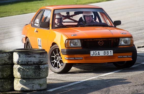 Rolf och Lina Grybb, Hässleholms mK på Sturup Raceway.